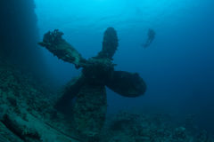 Нижняя sunken развалина корабля подводная Стоковая Фотография RF