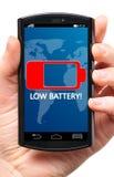 Низкая батарея стоковые изображения rf
