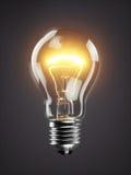 Низкая накаляя лампа электрической лампочки на темной предпосылке иллюстрация штока