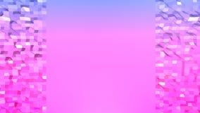 Низкая поли абстрактная предпосылка с современными цветами градиента Красная поверхность сини 3d V2 Стоковые Изображения RF