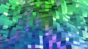 Низкая поли абстрактная предпосылка с современными цветами градиента Поверхность 2 голубого зеленого цвета 3d Стоковая Фотография RF