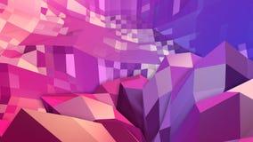 Низкая поли абстрактная предпосылка с современными цветами градиента Красная поверхность сини 3d V30 иллюстрация штока