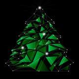 Низкая поли рождественская елка Стоковые Фото