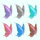 Низкая поли бабочка Стоковое Изображение