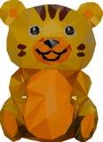 Низкая поли иллюстрация желтого тигра стоковые изображения rf