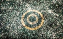 Низкая поли картина круга Стоковое Фото