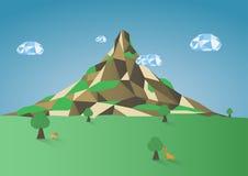 Низкая поли предпосылка горы стоковое фото rf