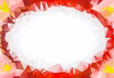Низкая поли рамка лепестков цветка Стоковые Изображения RF