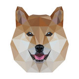 Низкая поли собака иллюстрация вектора