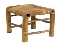 Низкая bamboo табуретка Стоковые Фото