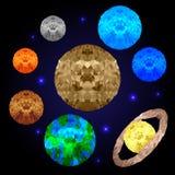 Низкие поли планеты Стоковое Изображение RF