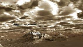 Низкие толстые облака над горами видеоматериал