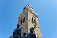 Низкий взгляд на Jouster Toren в Joure стоковая фотография rf