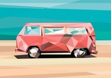 Низкий поли автомобиль Полигональный автомобиль иллюстрация вектора