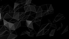 Низкий поли абстрактный футуристический перевод 3D Стоковая Фотография