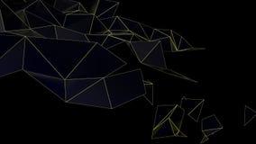 Низкий поли абстрактный футуристический перевод 3D Стоковая Фотография RF