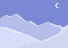 Низкий поли ландшафт, гора ночи Стоковая Фотография RF
