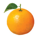 Низкий поли апельсин Стоковое Изображение