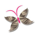 Низкий поли вектор бабочки Стоковая Фотография RF