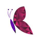 Низкий поли вектор бабочки Стоковые Изображения RF