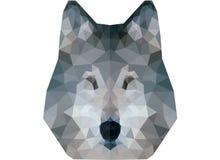 Низкий поли портрет волка Стоковые Изображения RF