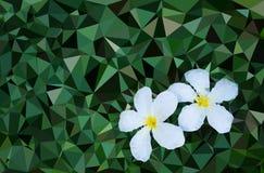 Низкий поли цветок стоковая фотография rf