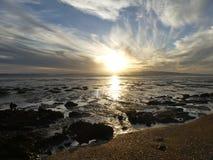 низкий прилив захода солнца Стоковое Фото