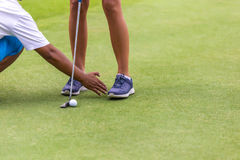 Низкий раздел женского игрока гольфа Стоковое фото RF