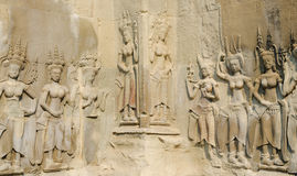 Низкий сброс в Angkor Стоковые Фото