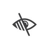 Низкий символ зрения линия значок слепоты, illu логотипа плана бесплатная иллюстрация