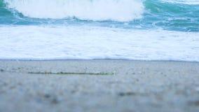 Низкий угол волн на пляже видеоматериал