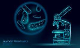 Низкий уровень бактерий 3D поли представляет probiotics Здоровая нормальная флора пищеварения человеческой продукции йогурта кише бесплатная иллюстрация