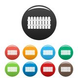 Низкими вектор цвета загородки установленный значками Стоковые Фотографии RF