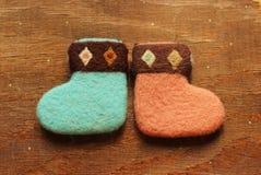 низкопробная картина конструкции цвета рождества socks вода Стоковая Фотография RF