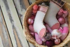 низкопробная картина конструкции цвета рождества socks вода Стоковое фото RF