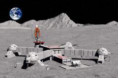 низкопробная луна иллюстрация вектора