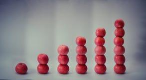 Низкопробное яблоко (отсчет) Стоковая Фотография