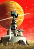 низкопробные космические корабли Стоковое Фото