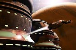 низкопробный выходя космический корабль Стоковое Фото