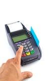 низкопробный стержень портативной машинки кредита карточки Стоковые Изображения RF