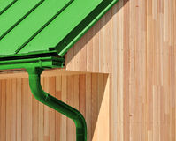 Низкоэнергический деревянный дом Стоковое фото RF