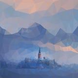 Низко-поли замок Стоковая Фотография