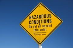 Никакая опасность заплывания не подписывает внутри Гавайские островы Стоковые Фотографии RF