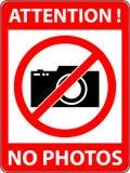 Никакая фотография, камера не запретила символ вектор Стоковые Изображения
