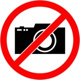 Никакая фотография, камера не запретила символ вектор Стоковые Фото