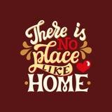 Никакое место как дом Иллюстрация штока