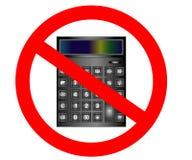 Никакой или знак стопа Высчитайте символ финансов Запрещенный предосторежением символ стопа запрета бесплатная иллюстрация