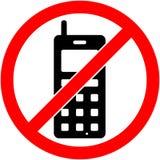Никакой телефон, телефон не запретил символ вектор Стоковые Изображения