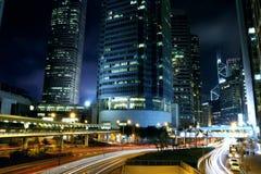 Никогда не кончающся ноча - Гонконг стоковые фото