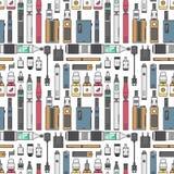 Никотин катушки батареи иллюстрации вкуса бутылки vape сока пара вапоризатора сигареты вектора прибора Vape электронный Стоковое Изображение